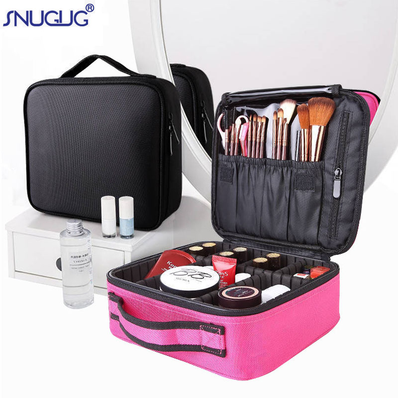 2019 New Professional Toiletry Bag Cosmetic Bag Organizer Women Travel Make Up Cases Big Capacity Cosmetics Suitcases For Makeup