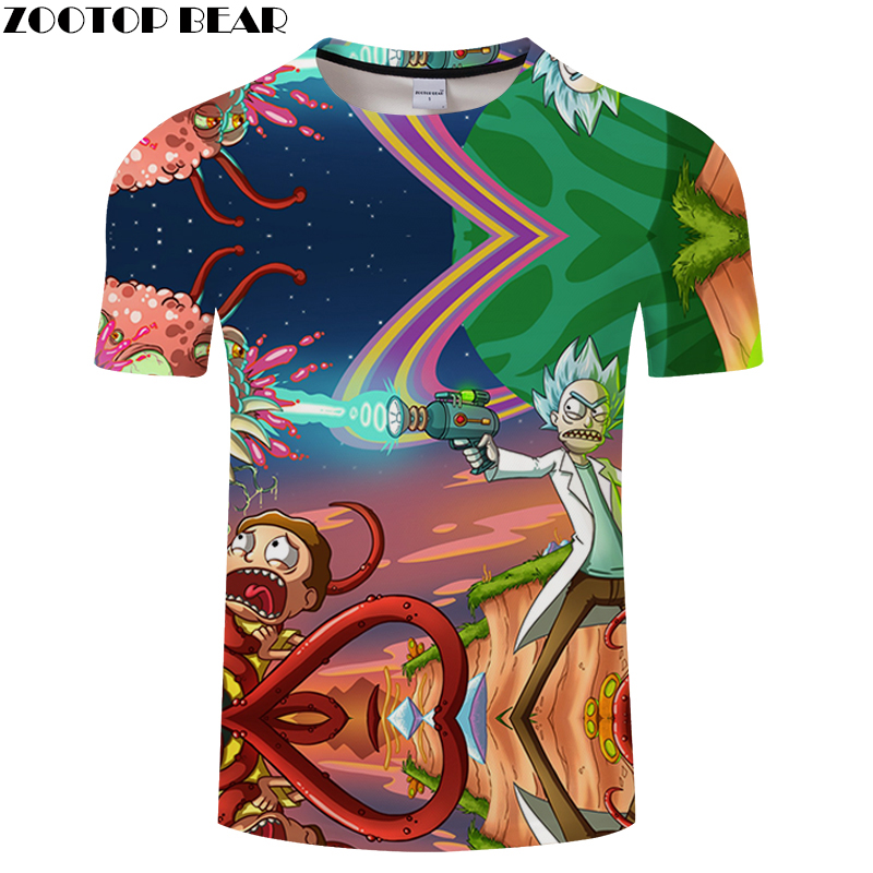 Brand Casual Men Women 3D T shirts RICK 3D Printed T-shirt Men Summer Short Sleeve Mens Sexy tshirts Anime Morty Tops tee shirt