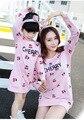 Семья платье весна осень мама / дети вишня напечатаны свободного покроя одеваются одежды с майка матери и дочери пуловер платье 1 шт.