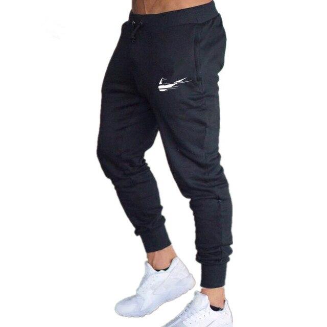 2018 Novos Homens Marca Calças Masculinas Calça Casual Sweatpants  Corredores Homens Fitness Workout Gym Muscle Algodão c1571432b2cc2