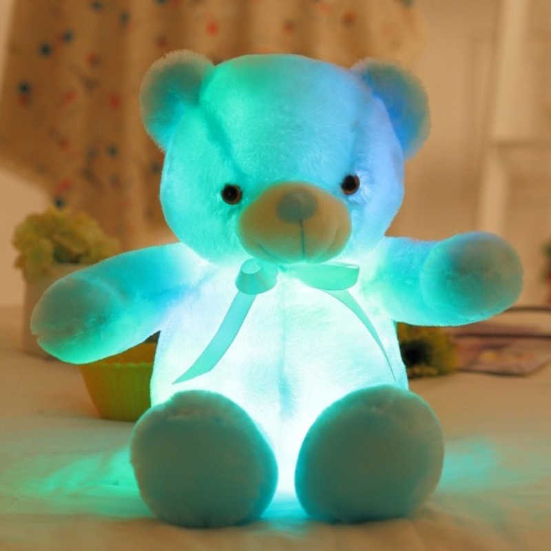 75 cm Kích Thước Lớn Sáng Tạo Ánh Sáng Up LED Gấu Bông Thú Nhồi Bông Đồ Chơi Sang Trọng Đầy Màu Sắc Glowing Teddy Bear Món Quà Giáng Sinh cho Trẻ Em