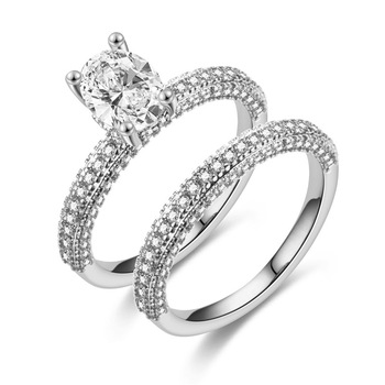 ZN Wedding Engagement Rings for Women  Rose Gold White gold Women Fashion 3