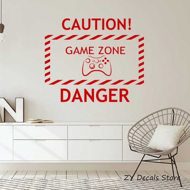 Newly Home Vinyl Wall Decal Boys Room Game Zone Video Game Teen Room  Decoratioon Gaming Wall