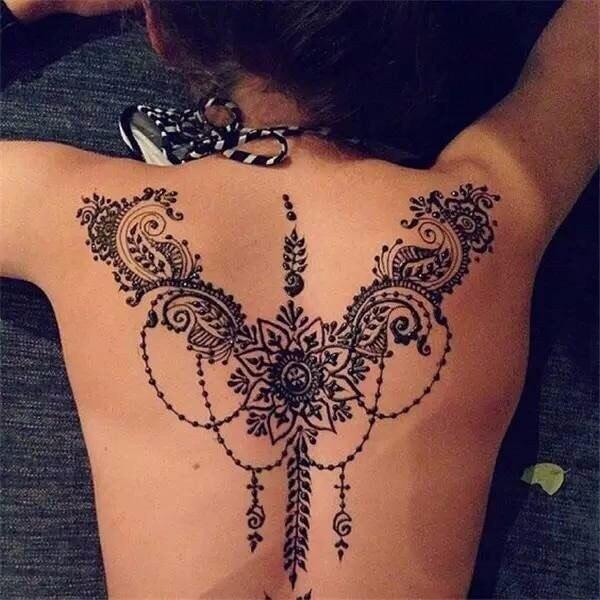 1 Pc Body Art Paint Black Henna Tattoos High Quality Mini Natural