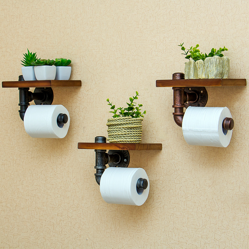 Creative wall-mounted bathroom roll paper towel racks home wall decoration solid wood paper towel racks bathroom accessories цена