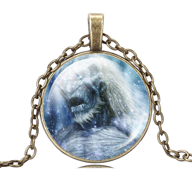 5pcs Game of Thrones White Walkers Necklace Jewelry
