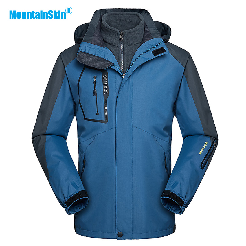 Mountainskin Mens 3in1 Winter Warm Fleece Jacket Two Pieces Windbreaker Outdoor Sports Hiking Camping Skiing Brand Coats MA189Mountainskin Mens 3in1 Winter Warm Fleece Jacket Two Pieces Windbreaker Outdoor Sports Hiking Camping Skiing Brand Coats MA189