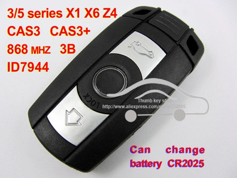 Top Quality Smart Remote Key For BMW Cas3 system X1 X6 35 Z4 868 MHZ for