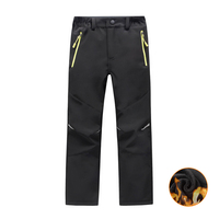Outdoor Waterproof Warm Boys Girls Softshell Pants Autumn Winter Causal Fleece Kids Trouser Camping Sport Teenagers