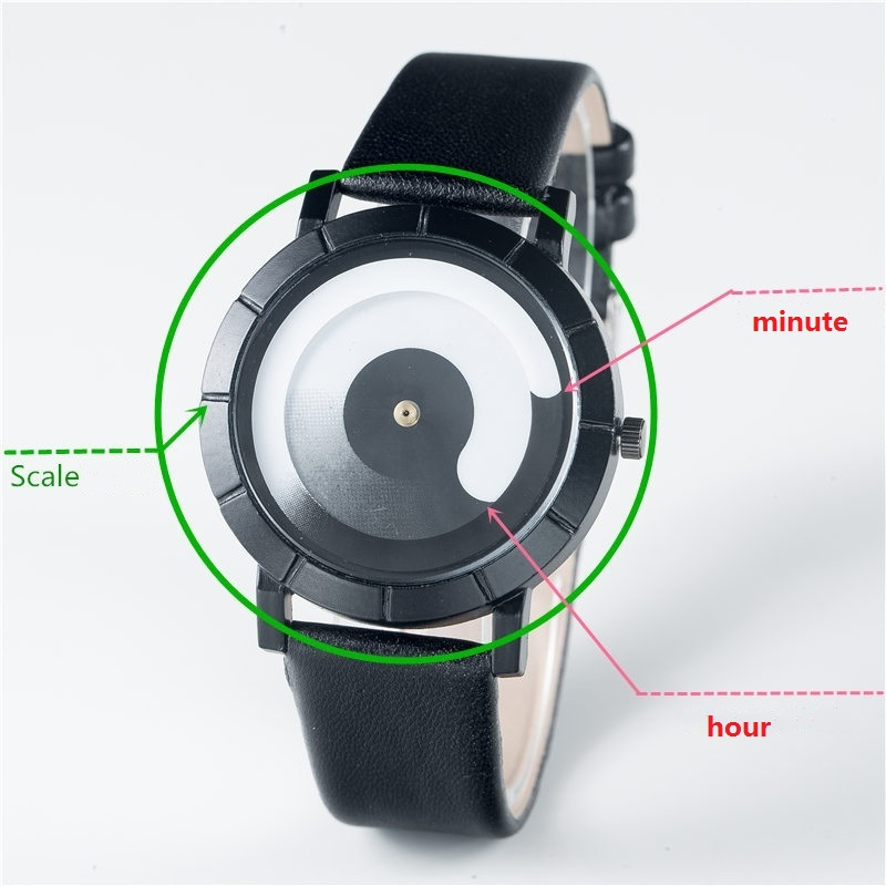 2017 new Hot style Magic technology concept Watches Fashion Creative Quartz Watch Men Women Leather watch