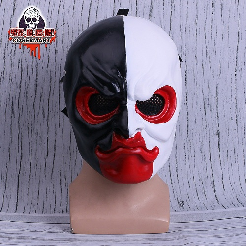PAYDAY 2 Mask Scar Scarface Masks Game Payday 2 mask Cosplay Resin Halloween Party Prop (1)