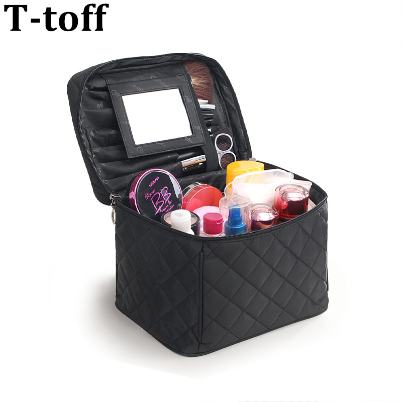 2017 Luxury Cosmetic Bag Big Professional Toiletry Bags Travel Makeup Case Beauty Necessaries Make up Storage Beautician Box msq make up bag pink and portable cosmetic bags for professional makeup artist toiletry case new arrival