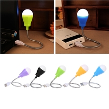 Portable USB Light Mini 360 Degree Flexible Night Lamp USB for Laptop Camping Gadgets