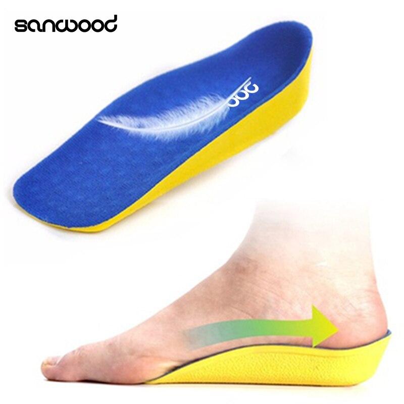 Womens Mens 1 Pair 2cm High Increasing Heel Lift Pad Half Shoe Insoles
