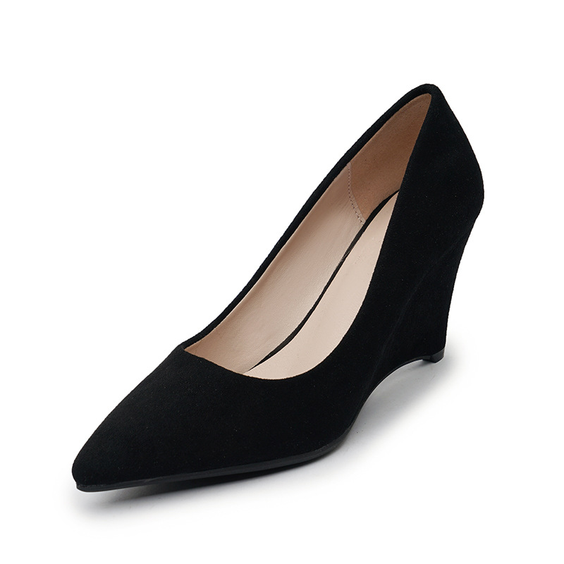 SAILING LU Women Shoes Flock Solid High-Heeled Pumps Summer 2019 Fashion Pointed Toe Female Leisure Slip On Size 35-40 XWD7215 9