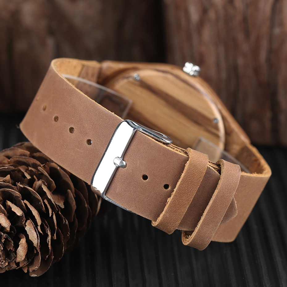 Unique Letter C Shape Luxury Green Marble Dial Men's Watch Genuine Leather Wooden Watches Quartz Watches Men Relogio Masculino Gifts (10)