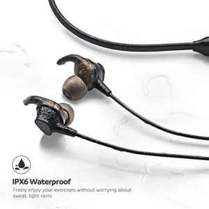 Image 4 - SoundPEATS Engine Bluetooth 5.0 bezprzewodowe słuchawki z pałąkiem na kark podwójne dynamiczne sterowniki słuchawki douszne Mic IPX6 wodoodporne 18hrs czas odtwarzania