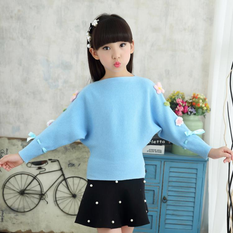 ФОТО 2016 new autumn sweater girl baby children's wear turtleneck collar sweater BianFuShan cotton poncho