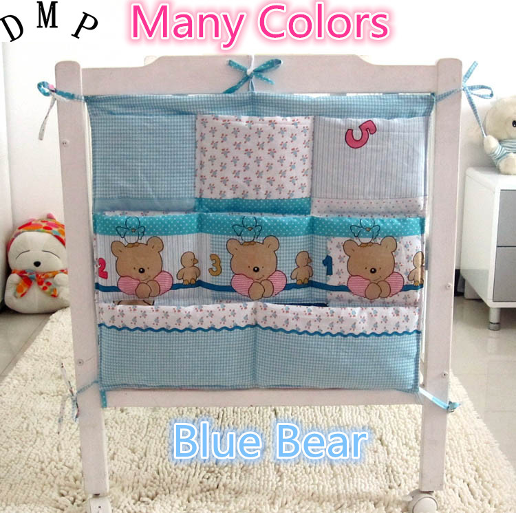 Promotion!  Cartoon Diapers Organizer Baby Bed Hanging Bag Portable Storage Bedding Set 62*52cm Accessories Storage Bag