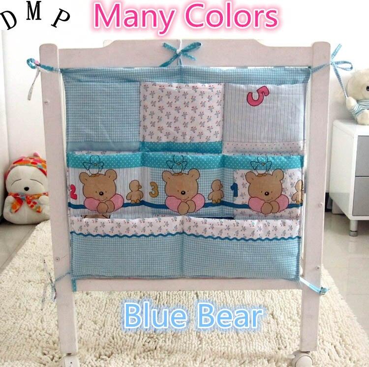Promotion!  Cartoon Diapers Organizer Baby Bed Hanging Bag Portable Storage Bedding Set 62*52cm Accessories Storage Bag