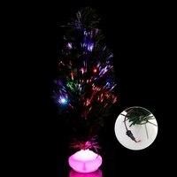 1ピース45センチled人工クリスマスツリー光ファイバ光クリスマスパーティーホームデコレーション