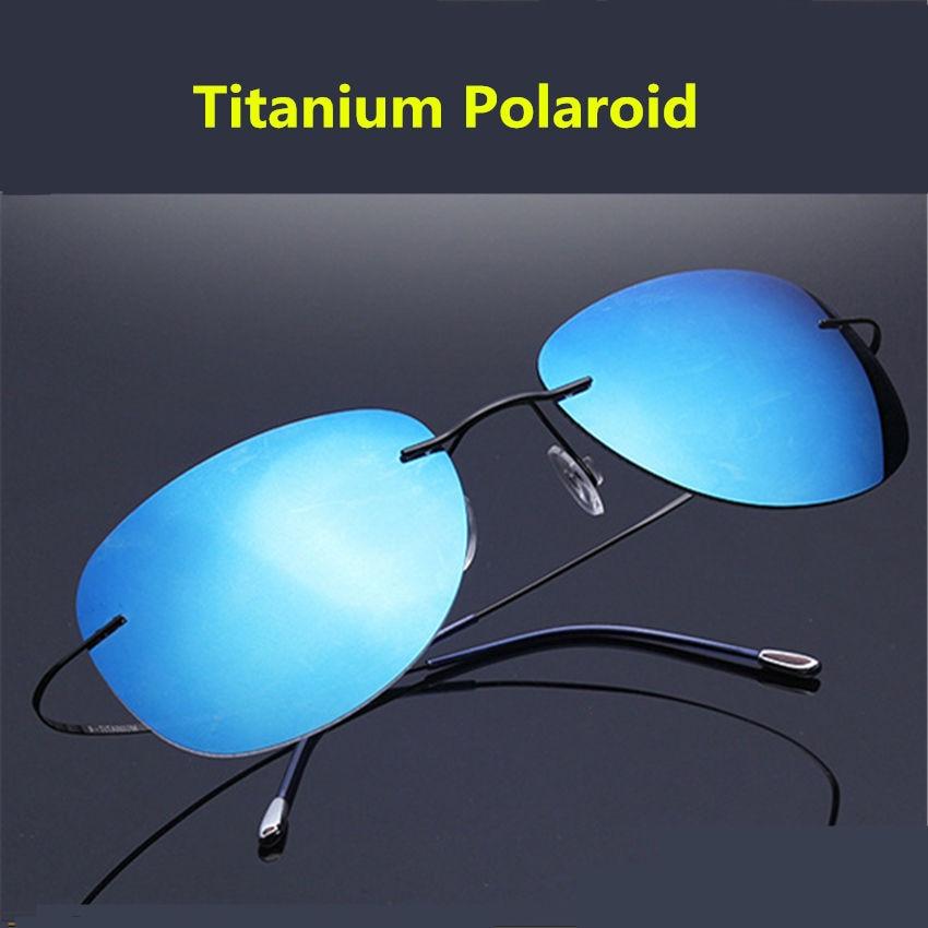 Frameless Glasses Titanium : Titanium Frameless Lightweight Polarized Sports Driving ...