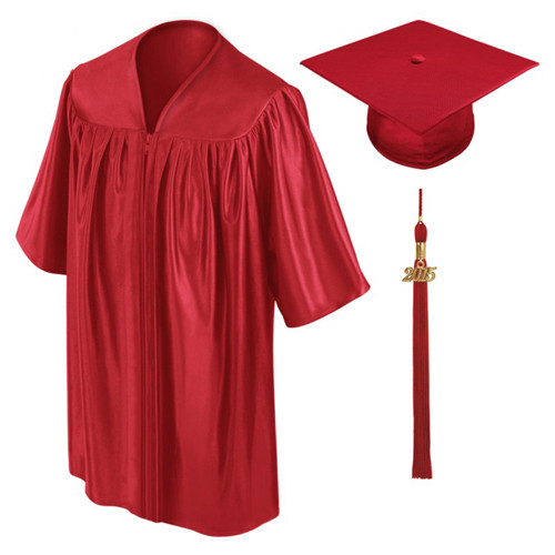 graduation gown cap red-Be.Fore