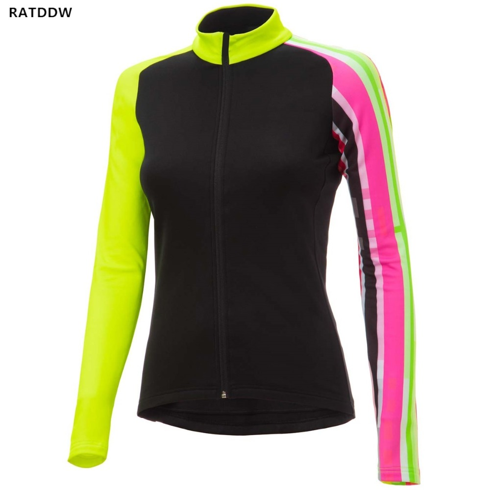 Women Winter thermal fleece Cycling Jersey Women's Clothing Long Sleeve Bicicleta MTB Maillot Ropa Ciclismo Hombre Ciclismo
