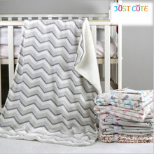 1pc 76 102cm baby blankets thicken double layer fleece infant swaddle bebe stroller wrap for newborns