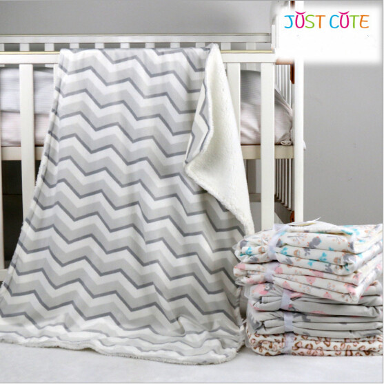 1pc 76 102cm baby blankets thicken font b double b font layer fleece infant swaddle bebe