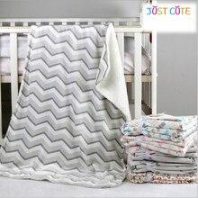 1pc 76*102cm baby blankets thicken double layer fleece infant swaddle bebe stroller wrap for newborns bedding blanket