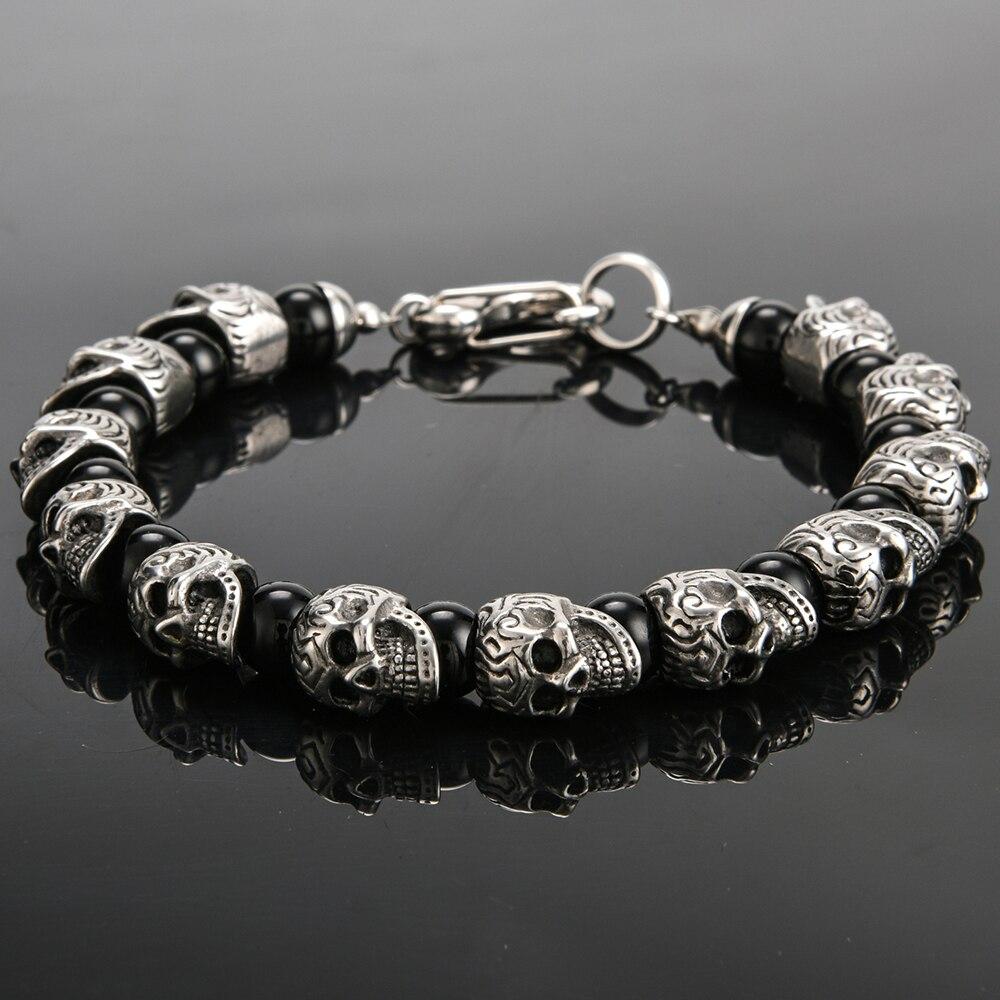 Beads Bracelet Men 8mm Natural Stone