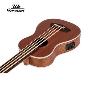 Image 3 - 30 pollici Mini Electrica Chitarra Strumenti Musicali Pieno Sapele Retro Chiuso Knob Ukulele 4 corde Basso Chitarra Guitarra UB 113