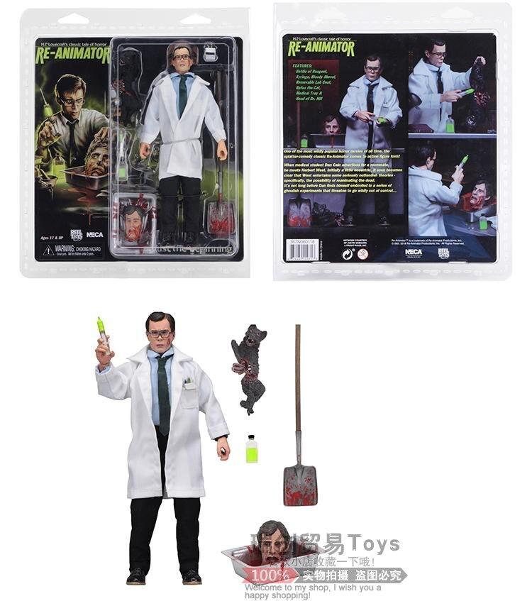 NECA Mary Shelleys Frankenstein Re Animator Herbert West Medico di Stoffa 8 Pollici Figura di Azione della Bambola Giocattolo