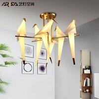 Post modern LED chandelier novelty bird pendant lamp nordic fixtures living room suspended lights dining room hanging lighting