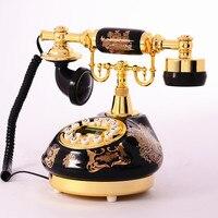 טלפון עתיק קרמיקה טלפון עתיק שיחה מזוהה שיחת טלפון אירופאי רטרו קרפט בית קישוט טלפון חיוג מספר
