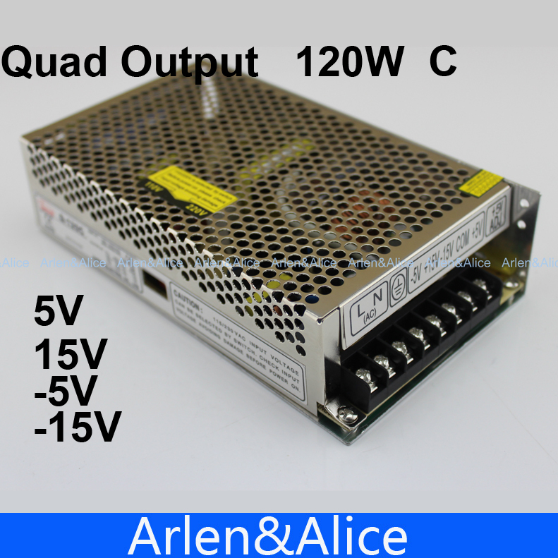 120W C Quad output 5V 15V -5 -15v Switching power supply AC to DC SMPS