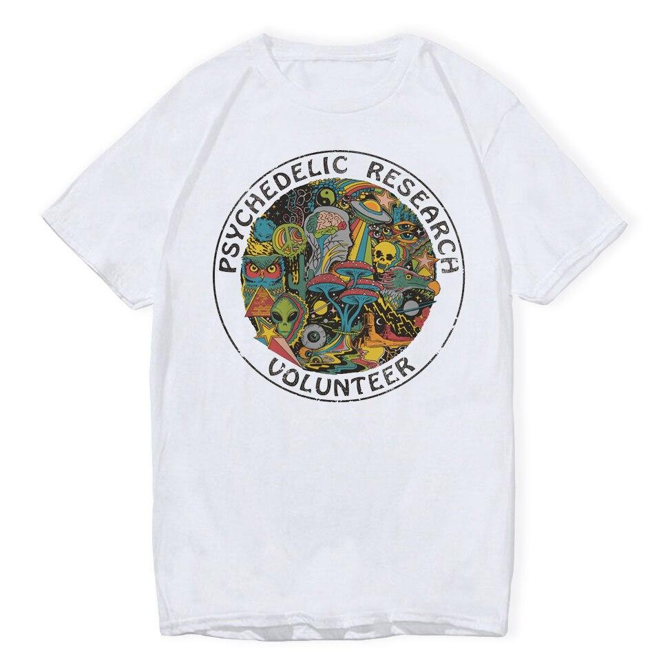 LettBao психоделический исследования волонтер футболки для мальчиков мультфильм мужские футболки летние белые модные белые Хип-хоп футболка ...