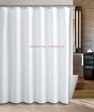 Fabric polyester terylene pure white creme color waterproof thicken shower curtains bathroom shower curtains.