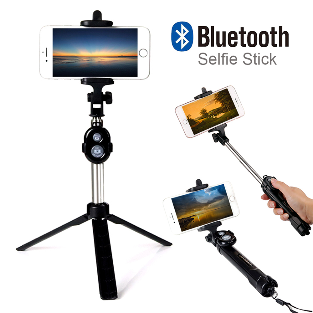 fashion foldable selfie stick self bluetooth selfie stick tripod bluetooth shutter remote. Black Bedroom Furniture Sets. Home Design Ideas