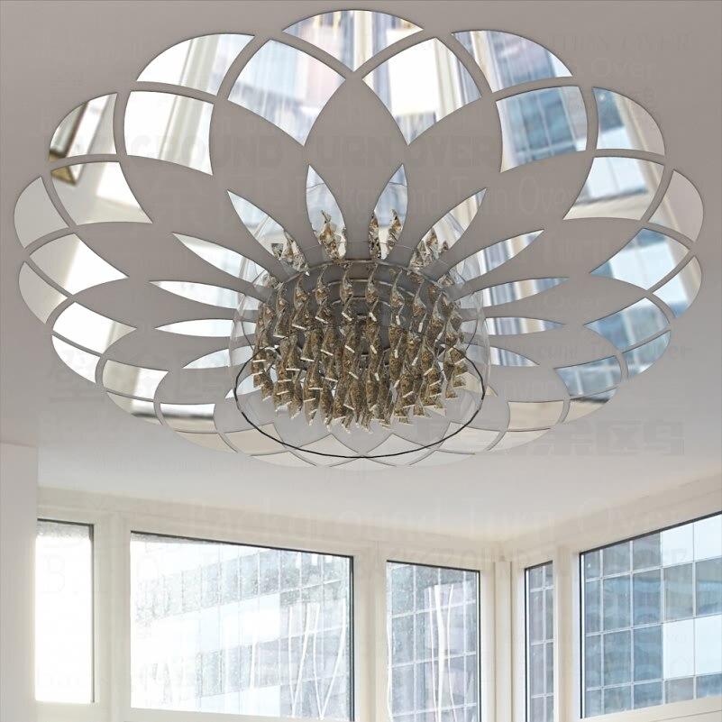 Modern Circle Pattern Decorative Ceiling Acrylic Mirror