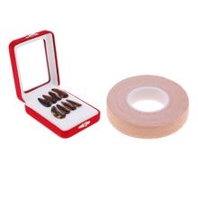 цена на 5m Adhesive Tape Anti-allergy & 8pcs Guzheng Zither Koto Finger Picks Kit