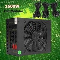 1600 Вт модульная добыча Питание GPU для Bitcoin Miner Eth Rig S7 S9 L3 + D3 высокое качество компьютера Питание для BTC
