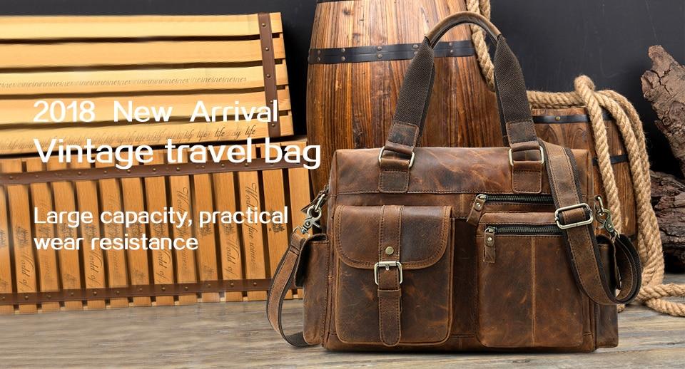HTB1.j7Obh2rK1RkSnhJq6ykdpXan WESTAL genuine leather bag for men's briefcase bussiness laptop bags for documents messenger handbags tote briefcase 9005