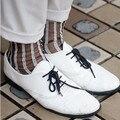 2016 de primavera y verano ultrafinas respirables joker calcetines de vidrio de cristal de las mujeres de seda de rayas verticales calcetines