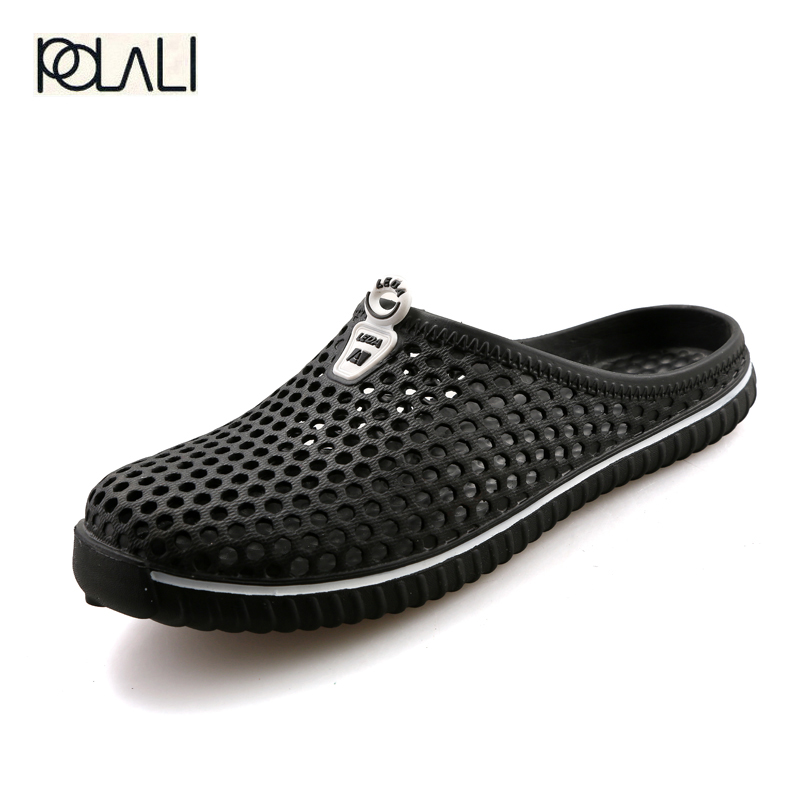 Men Shoes Flats-Sandals Flip-Flops Breathable Casual Unisex Beach Summer POLALI Hollow-Out
