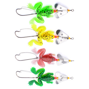 1pcs 4 color Fishing lures Frog lure Top Water Simulation Frog Soft Bass Bait 9cm/6.2g