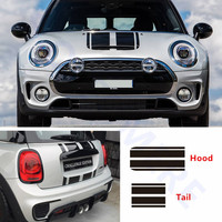Car Hood Stripes Decal Body Decor Stickers Racing Styling For MINI Cooper S Countryman Clubman Paceman R56 R60 R61 F54 F55 F56