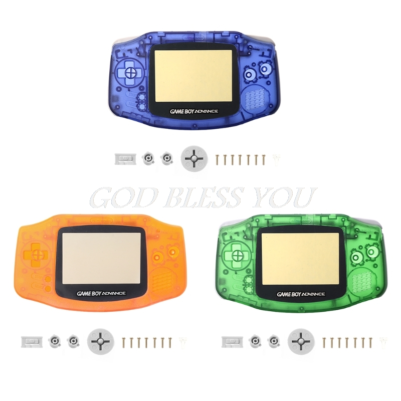 Transparent Full Set Case Cover Frame Repair Parts Kit For Nintendo GameBoy Advance GBATransparent Full Set Case Cover Frame Repair Parts Kit For Nintendo GameBoy Advance GBA