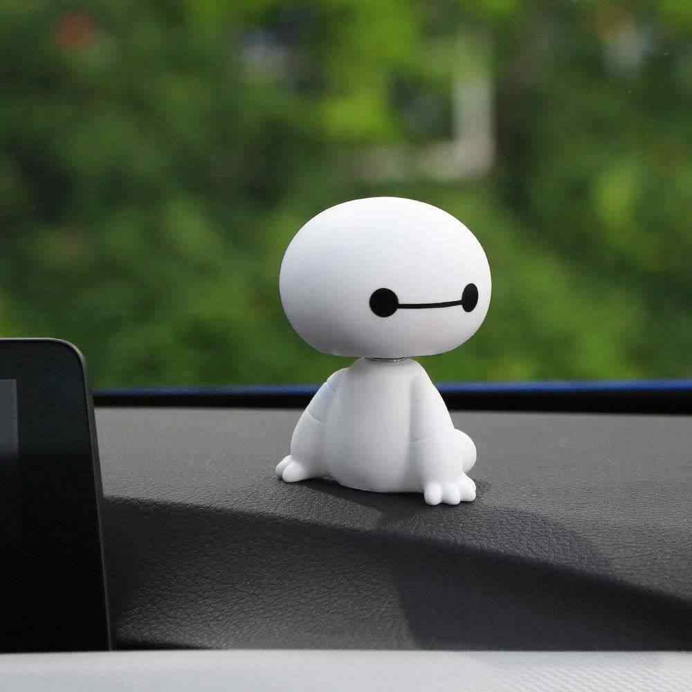 Pl/ástico De Dibujos Animados Baymax Robot Sacudiendo La Cabeza Figura Adornos Para Autom/óviles Auto Decoraciones Interiores Big Hero Toys Ornament Car-Styling # 2